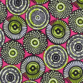 Cretonne cotton Fabric Soweto - pink x 10cm