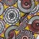 Cretonne cotton Fabric Soweto - yellow x 10cm