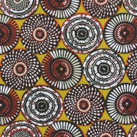 Tissu coton cretonne Soweto - jaune x 10cm