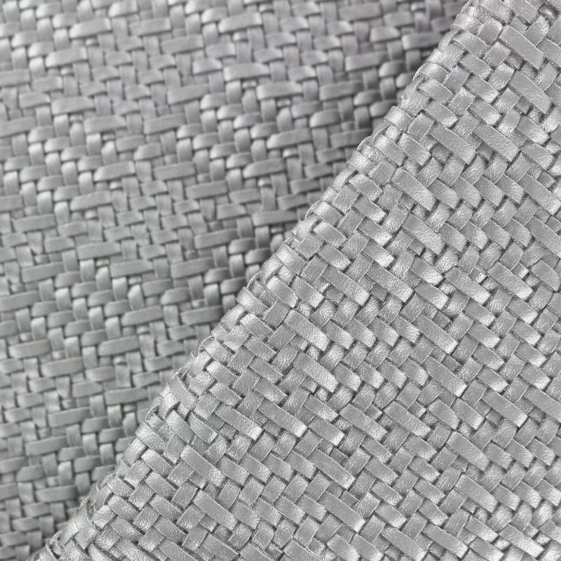 Simili cuir sur feutre charlize argent x 10cm - Enlever feutre sur tissu ...