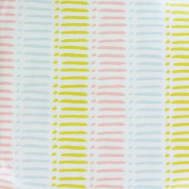 Oilcloth fabric Dash sorbet - multicolor x 10cm