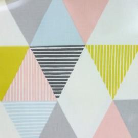 Tissu coton enduit Brio sorbet - multicolore x 30cm