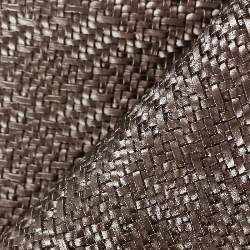 Simili cuir sur feutre charlize brun x 10cm - Enlever feutre sur tissu ...