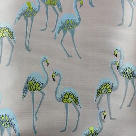 Jacquard fabric Flamants - pink x 15cm