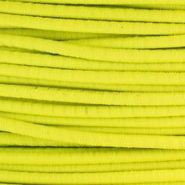 Fil élastique rond 2.5 mm jaune fluo