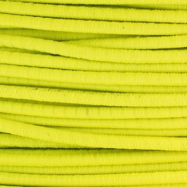 Rounded elastic thread 2,5 mm - neon yellow