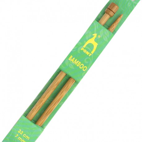 Bamboo knitting needles 33 cm