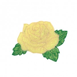 Little Big Flower iron on patch  - raw