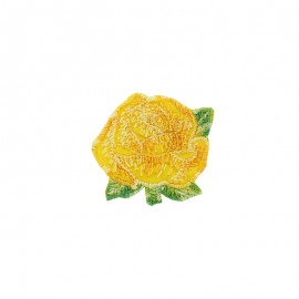 Little Big Flower iron on patch  - yellow