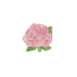 Thermocollant Little Big Flower - rose léger
