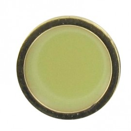 Button, enamelled - lime/golden