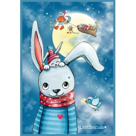 ♥ Coupon 35 cm X 50 cm ♥ Velours Lapin format grand pochon by Laëtibricole