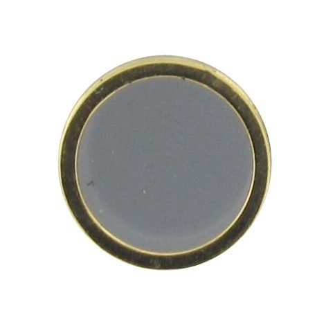 Button, enamelled - grey/golden