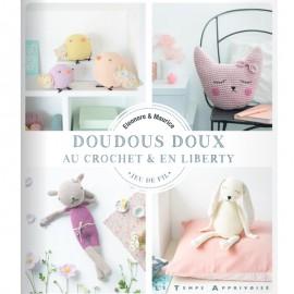 """Book """"Doudous doux au crochet et en liberty"""""""