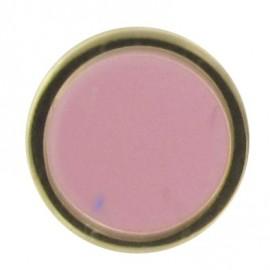 Bouton émaillé rose