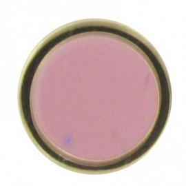 Button, enamelled - pink/golden