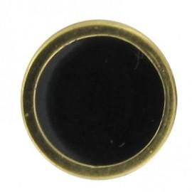 Bouton émaillé noir