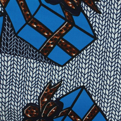 Tissu Wax - Boku x 10cm