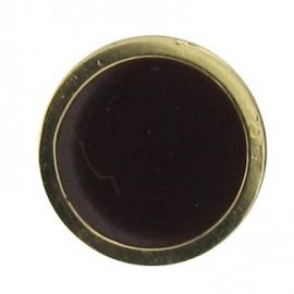 Bouton émaillé marron