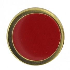Bouton émaillé rouge