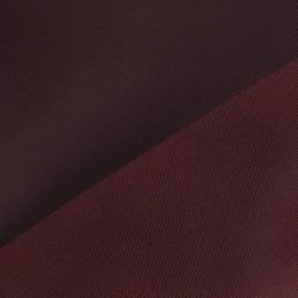 Tissu toile polyester bordeaux x 10cm