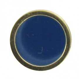 Button, enamelled - blue/golden