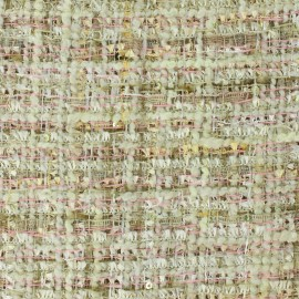 Tweed fabric Song - multi beige x 10cm