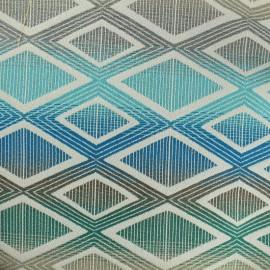 Tissu toile jacquard Yoga - bleu x 10cm