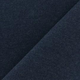 Tissu sweat léger Uni - bleu nuit x 10cm