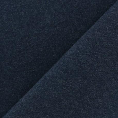 Light jogging Jersey Fabric - midnight blue x 10cm