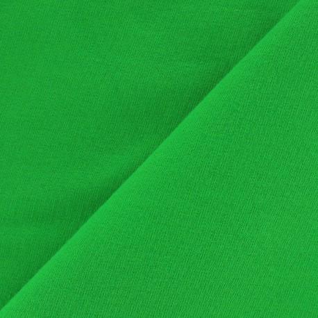 Tissu jogging jersey léger - vert x 10cm
