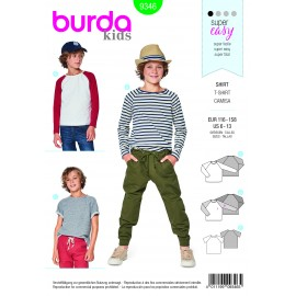 Burda sewing pattern Top – Raglan Sleeves Burda N°9346