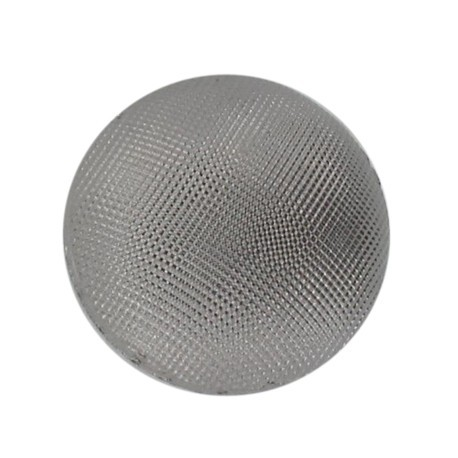 Half-ball button - silver