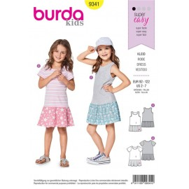 Sewing pattern Strap Dress – Shirt Dress - Low Set Skirt Burda N°9341