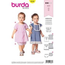 Patron Robe et culotte – robe chasuble à volants Burda N°9339