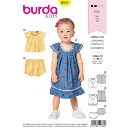 Sewing pattern Blouse and Panties – Strap Dress with Frills Burda N°9338