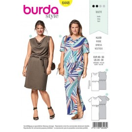 Sewing pattern Shirt Dress with Waterfall Neckline Burda N°6448
