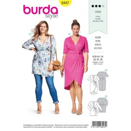 Sewing pattern Wrap Look Dress Burda N°6447