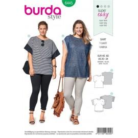 Patron Tee-shirt – épaules débordantes – encolure ronde Burda N°6445