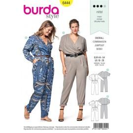 Sewing pattern Jumpsuit – Elastic Casing at the Waist, Wrap Look Top with Pleats Burda N°6444