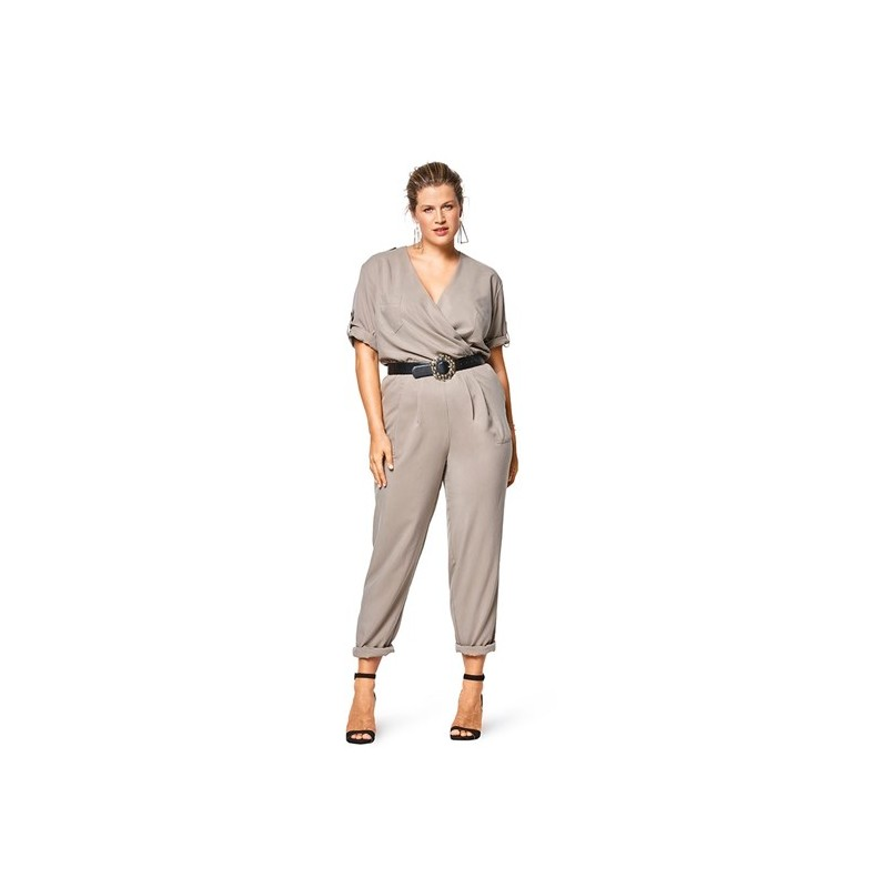 Burda Style Women Overalls Sewing Patterns Plus Size Burda N 6444