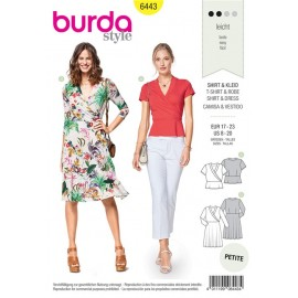 Sewing pattern Wrap Look Jersey Dress – Top with Peplum Burda N°6443