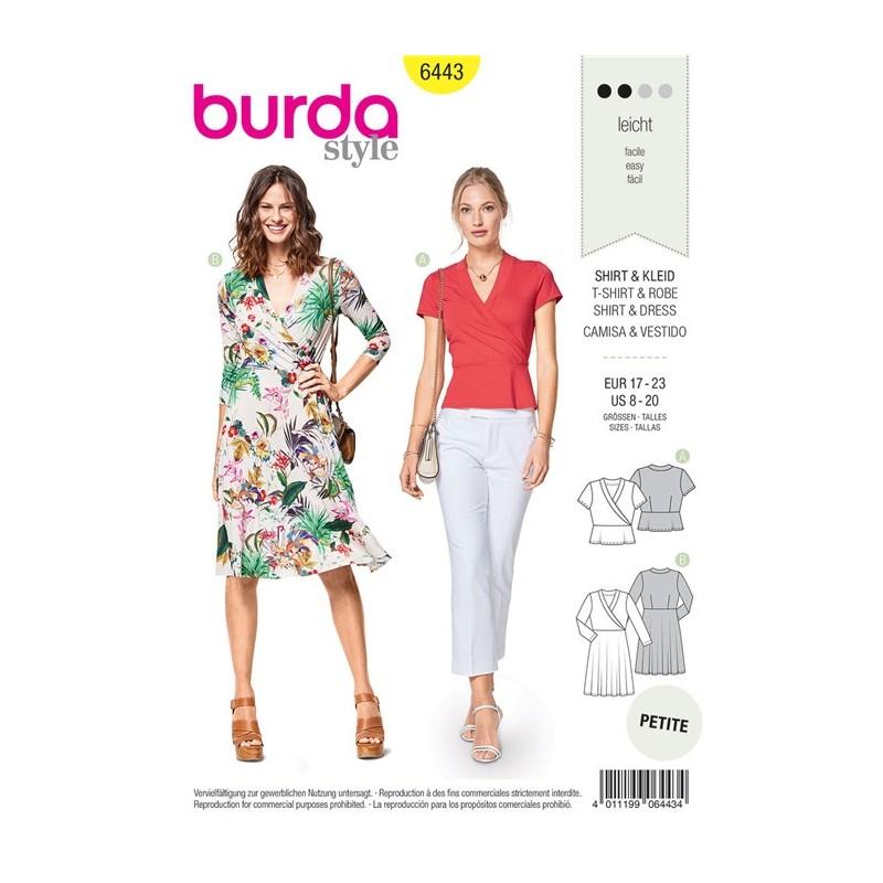 Burda Style Women Dress and T-shirt Sewing Patterns: Burda n°6443