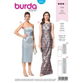 Patron Robe à corsage – robe de soirée – godet dans le dos Burda N°6441
