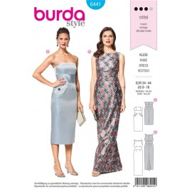 Sewing pattern Stretch Dress – Evening Dress – Front Twist Burda N°6442