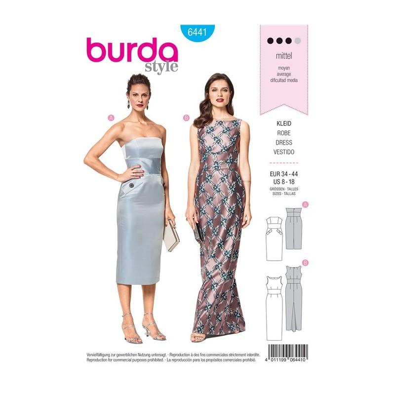 Burda style femmes patron robe de soir e burda n 6441 - Patron de robe de soiree ...