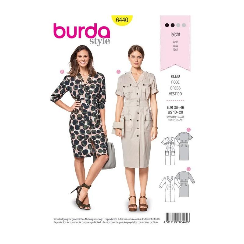FemmesPatron Style Burda Robe Style Burda FemmesPatron Burda N°6440 Style FemmesPatron Robe N°6440 BoCxthsQrd