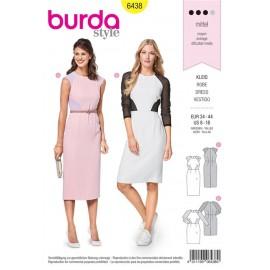 Sewing pattern Dress – Colour Blocking – Raglan Sleeves Burda N°6438