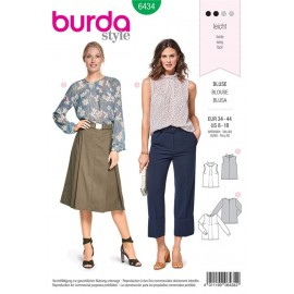 Patron Blouse – plis à l'encolure Burda N°6434