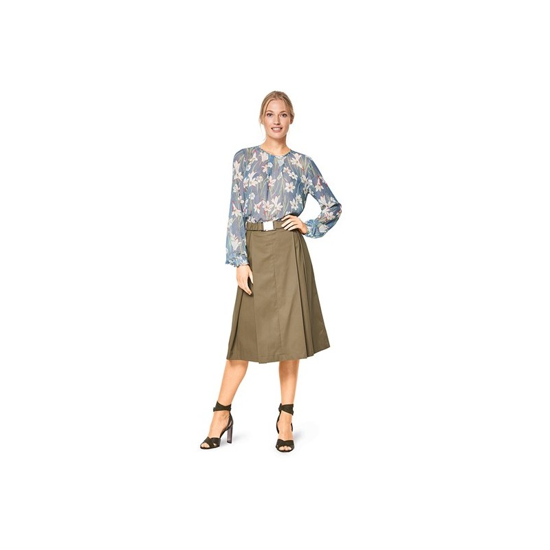 Burda Style Women Blouse Sewing Patterns Burda N 6434